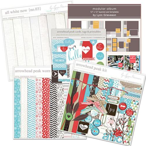 new digital scrapbook designs by Lynn Grieveson
