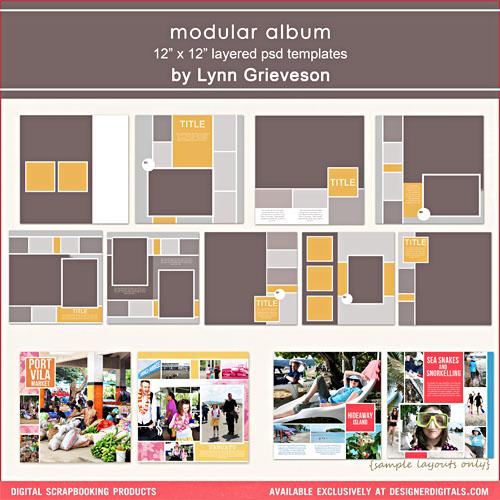 Modular album photobook templates album digital scrapbooking