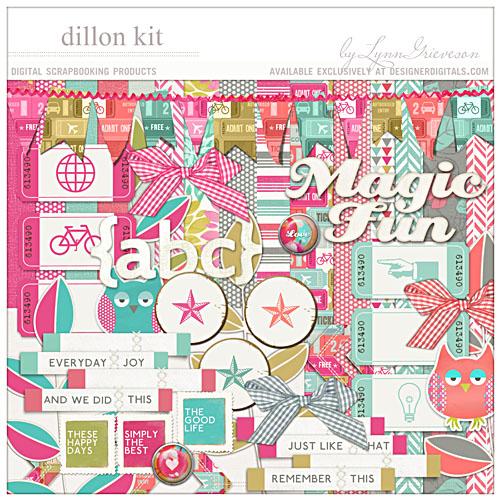 Dillon bold bright digital scrapbooking kit