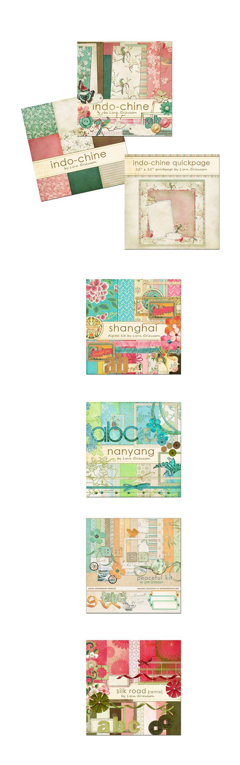 Asian-inspired-digital-scrapbooking-kits