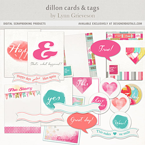 Dillon printables journal cards tags project life