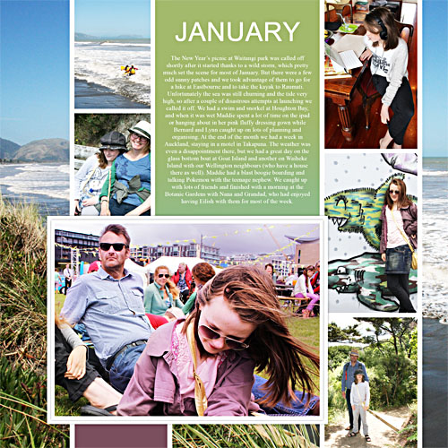 monthly review page project 365 digital scrapbooking photobook template