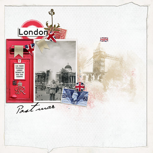 heritage digital scrapbook layout london england