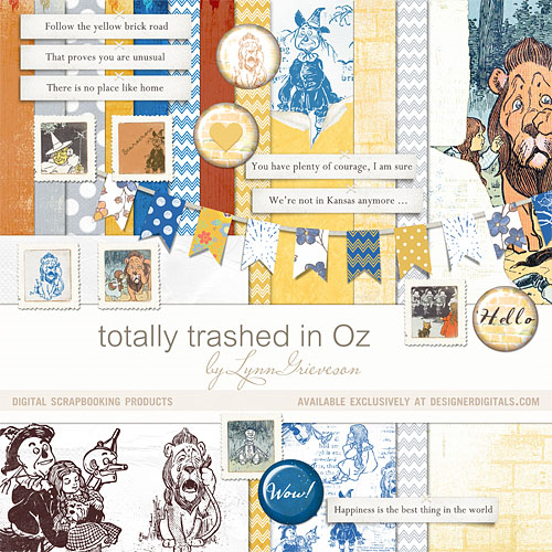 wizard of oz digital scrapbooking kit