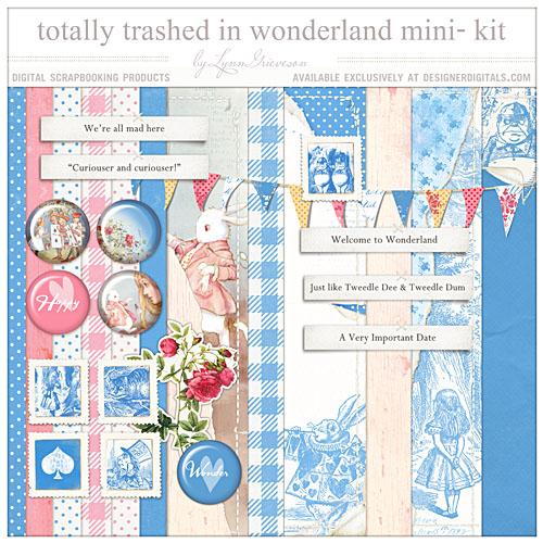 Alice in Wonderland digital scrapbooking kit