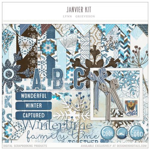 Janvier kit winter digital scrapbooking