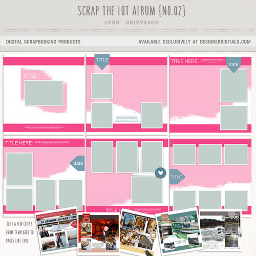 double page layouts photobook digital scrapbook