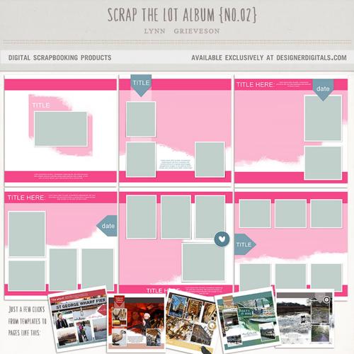 double page layouts photobook digital scrapbook