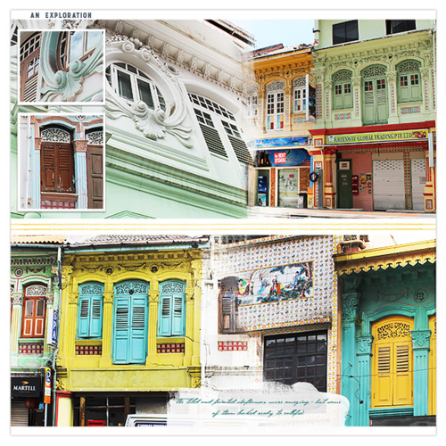 singapore travel scrapbook page