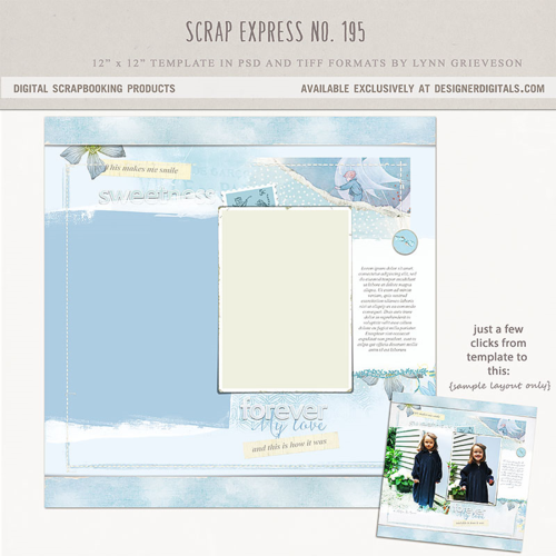 digital scrapbooking template baby