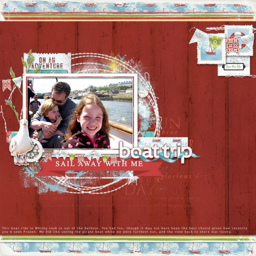 summer digital scrapbooking layout