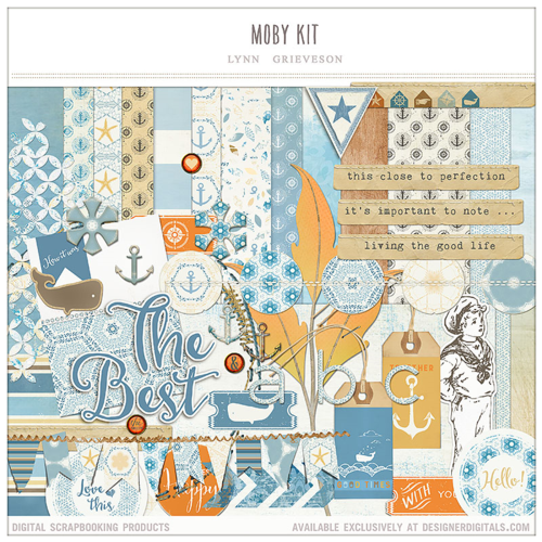 moby kit summer beach digital scrapbooking kit