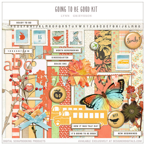 digital scrapbooking school kit