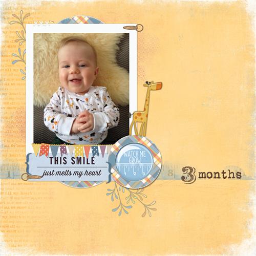 baby boy layout digital scrapbooking
