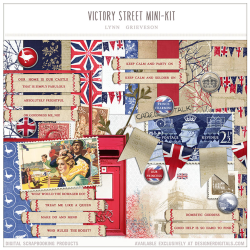 victory street digital scrapbooking kit england english heritage history london
