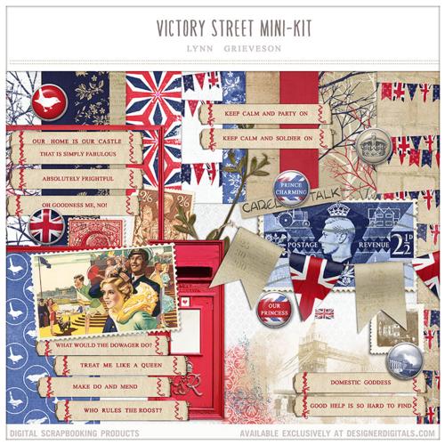 victory street digital scrapbooking kit england english heritage history london