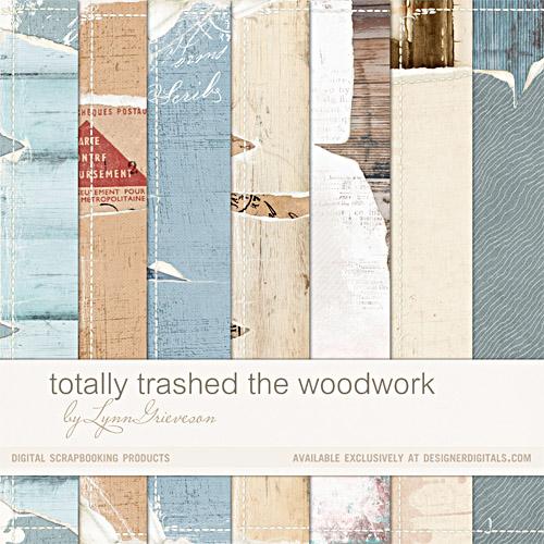 wood patterned worn torn digital scrapbooking