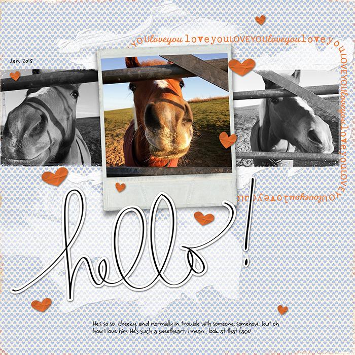 Horse-scrapbook-page