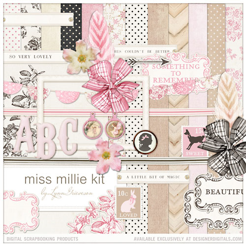 french themed digital scrapbooking