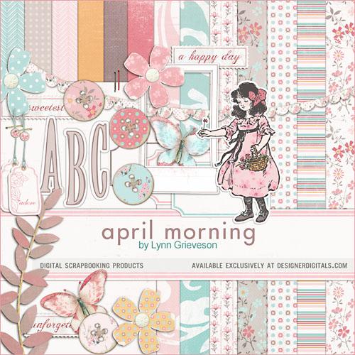 spring easter digital scrapbooking kit