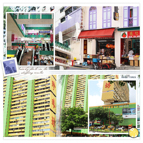 singapore travel scrapbook page