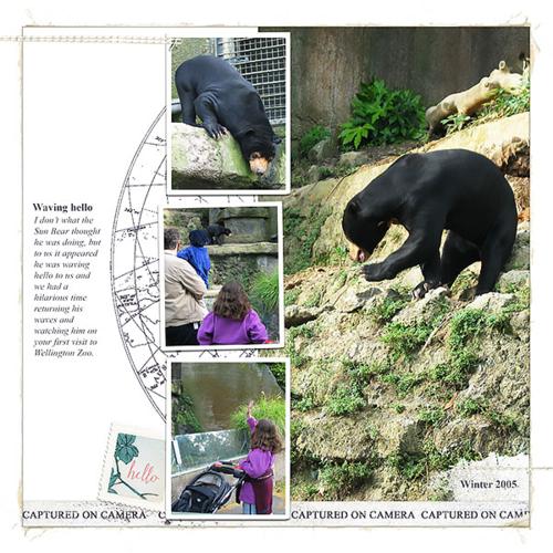 digital scrapbooking layout zoo