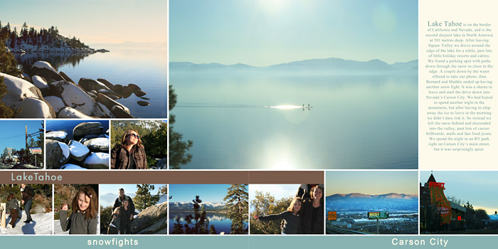 Travel photobook layout 8
