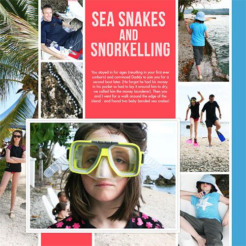 Travel photobook layout 5