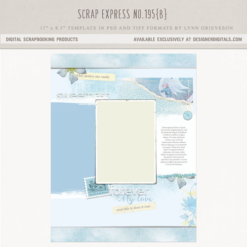 digital scrapbooking template 8.5 x 11