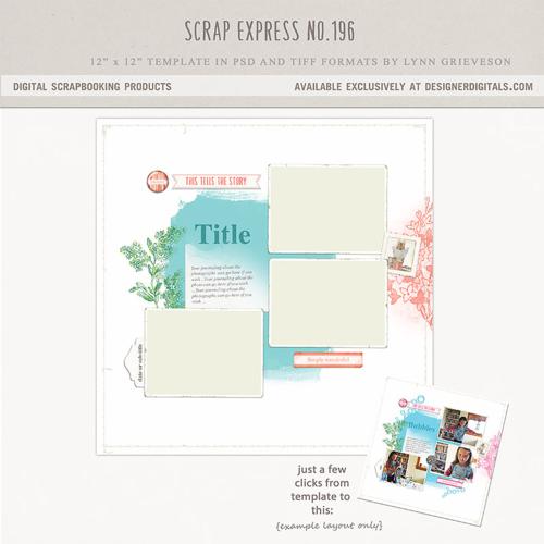 digital scrapbook templates