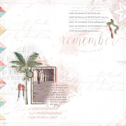 summer digital scrapbooking layout