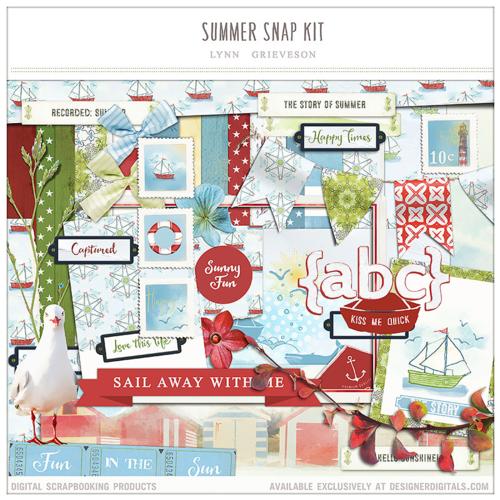 summer digital scrapbooking kit