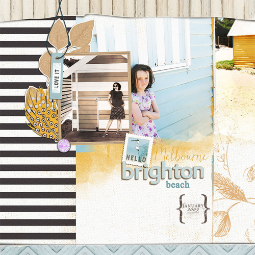 lynn grieveson digital scrapbook layout beach