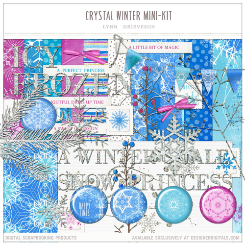 frozen digital scrapbooking kit