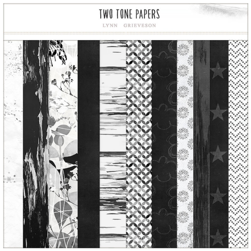 Two Tone black and white digital scrapbooking papers