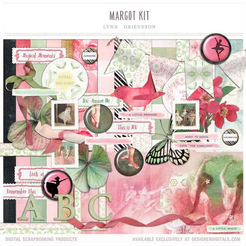 ballet dance digital scrapbooking kit