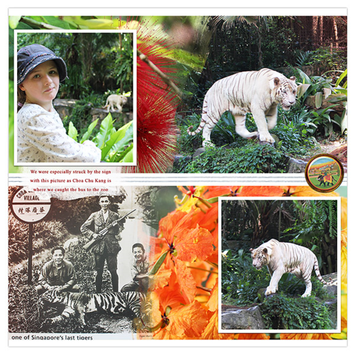 singapore zoo travel scrapbook page