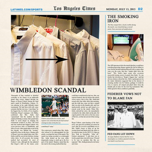 mock newspaper template