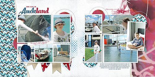 Double page spread scrapbook layout