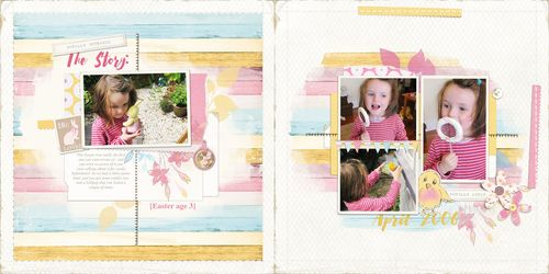 Double page spread scrapbook layout3